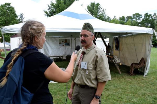 Gyermán Mónika és Szentkirályi Endre a Jubi táborparancsnoka