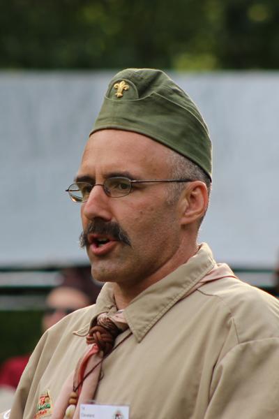 A táborparancsnok köszöntése